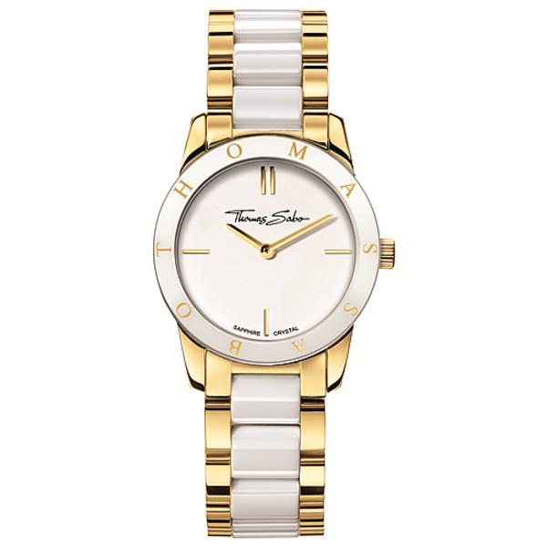 Reloj analógico mujer acero - blanco