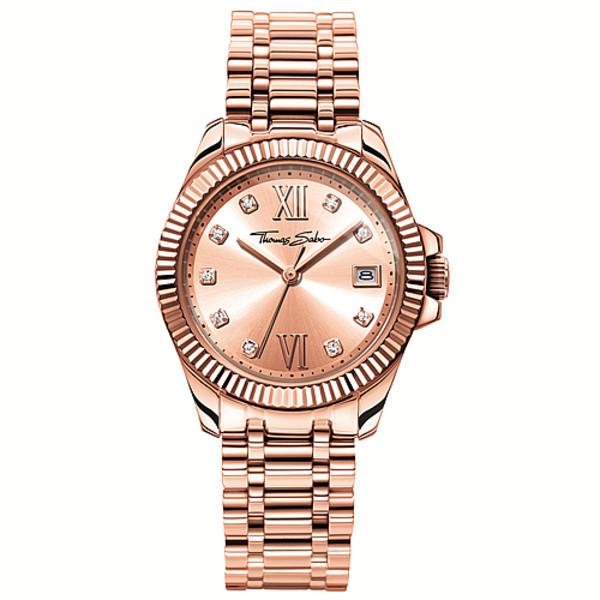 Reloj mujer analógico acero - oro rosa