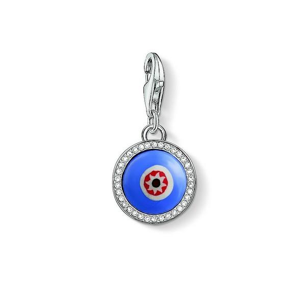 Abalorio de mujer plata - ojo azul