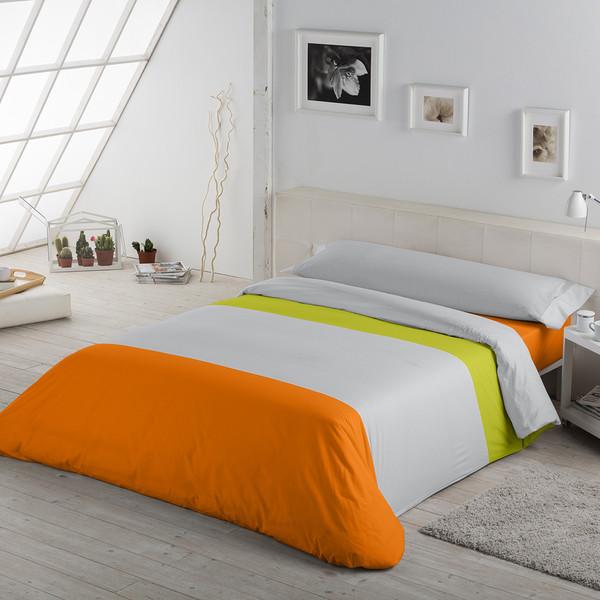J. Nórdico tricolor - pistacho/perla/naranja