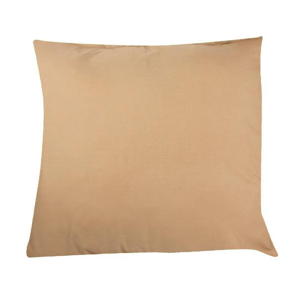 Funda cojín de algodón lisa - marrón