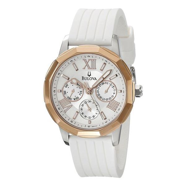 Reloj analógico caucho mujer - blanco