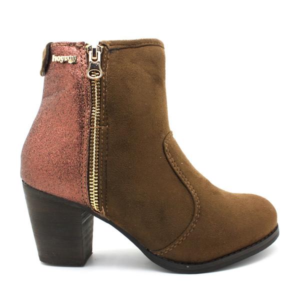6cm Botín tacón mujer - marrón