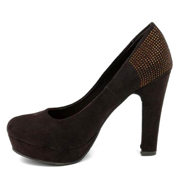 9,5cm Zapato tacón mujer - marrón