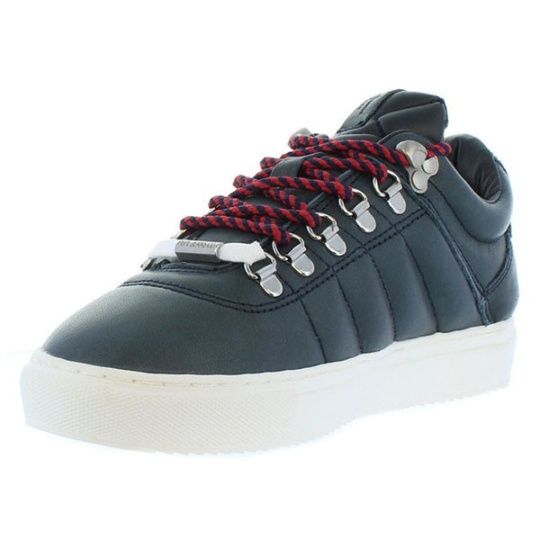 Sneaker piel mujer - marino