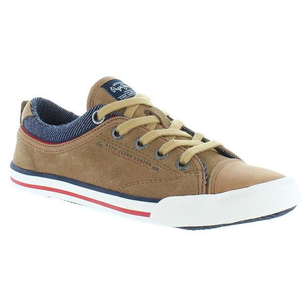 Sneaker junior piel - marrón