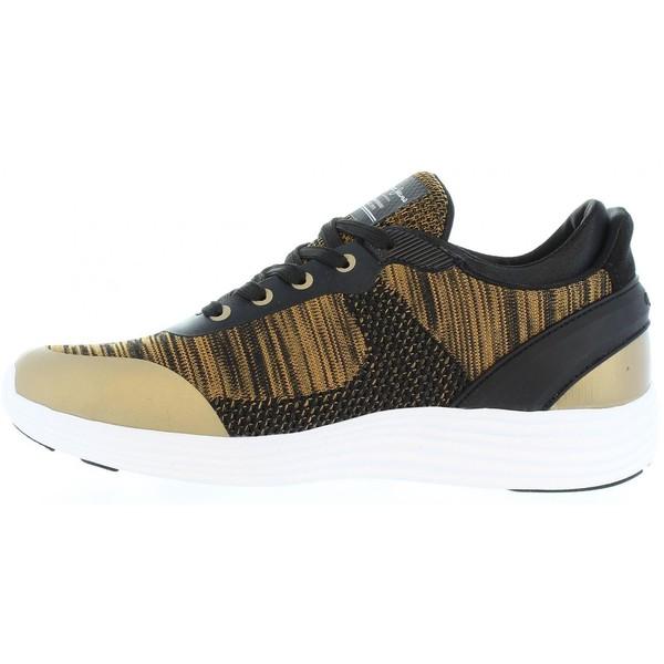 Sneaker mujer - marrón/dorado
