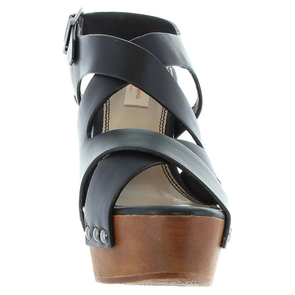 13cm Sandalia tacón piel mujer - negro
