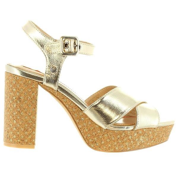 10cm Sandalia tacón mujer - dorado