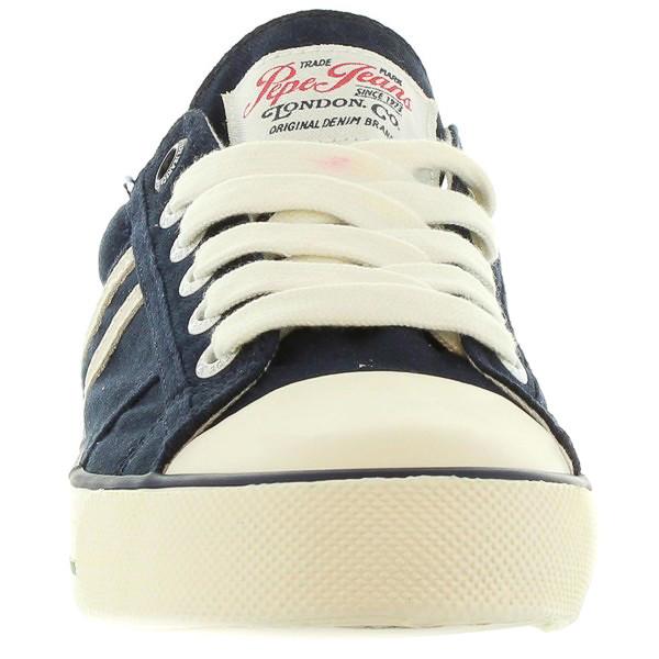 Sneaker junior piel - azul