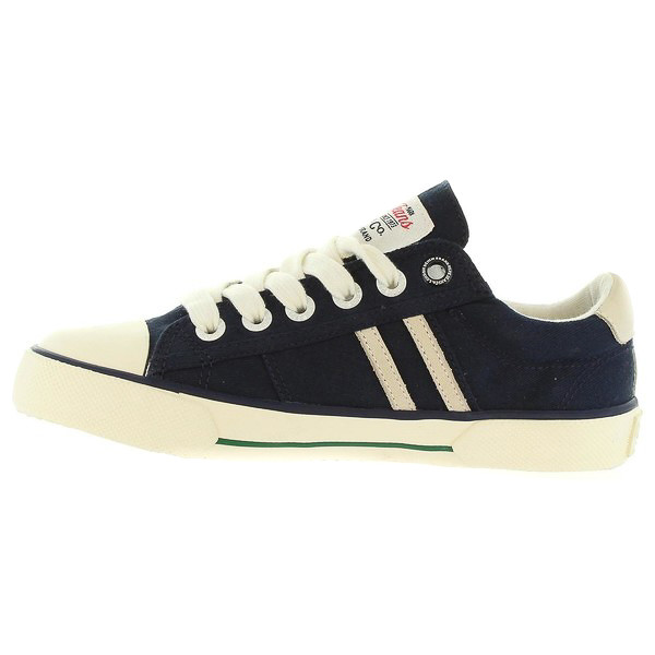 Sneaker piel junior - azul