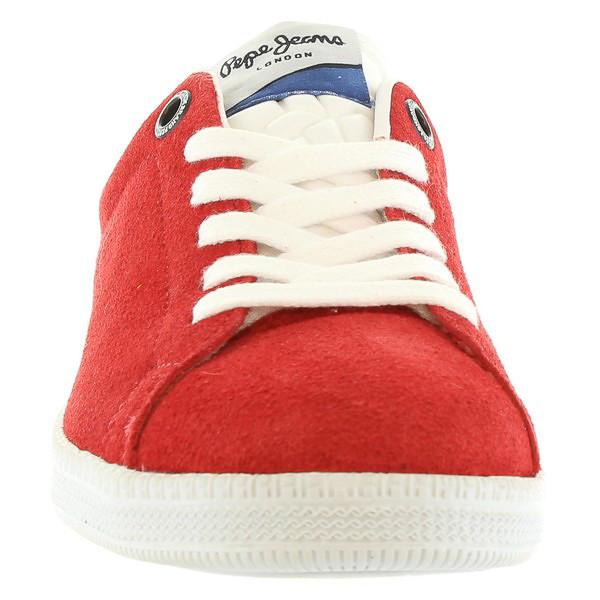 Sneaker piel junior - rojo