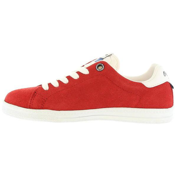 Sneaker junior piel - rojo