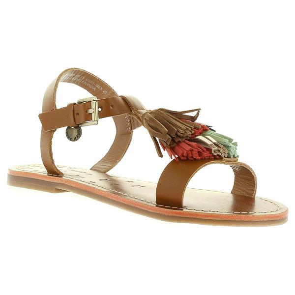 Sandalia piel infantil/mujer - marrón