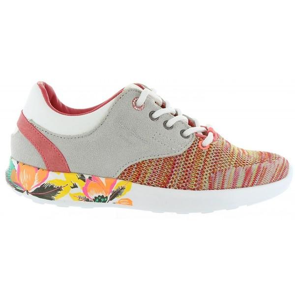 Sneaker piel infantil - multicolor