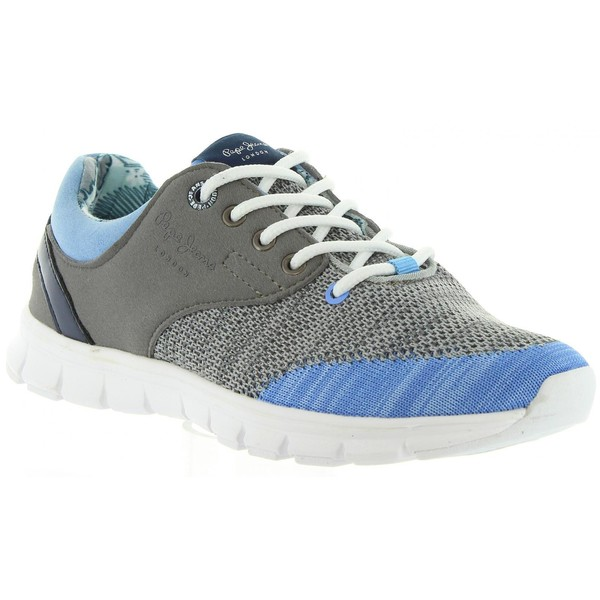 Sneaker plana junior - gris/azul