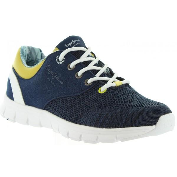 Sneakers plana junior - marino