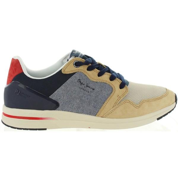 Sneaker piel hombre - beige