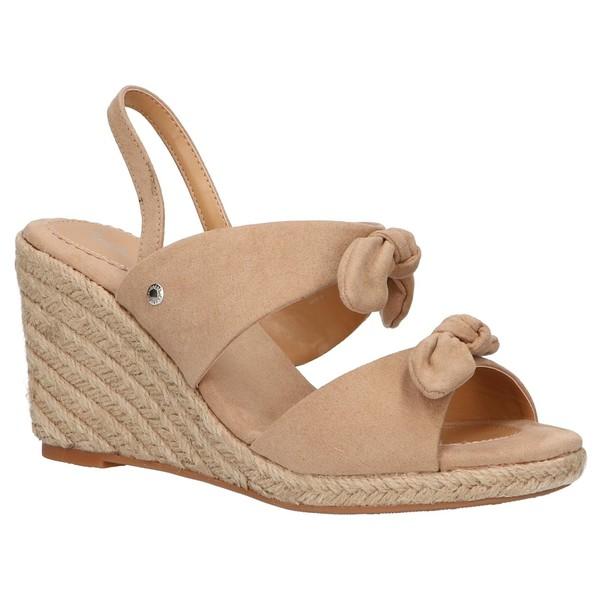 8cm Sandalia cuña mujer - beige