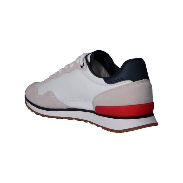 Sneaker piel/textil hombre - blanco
