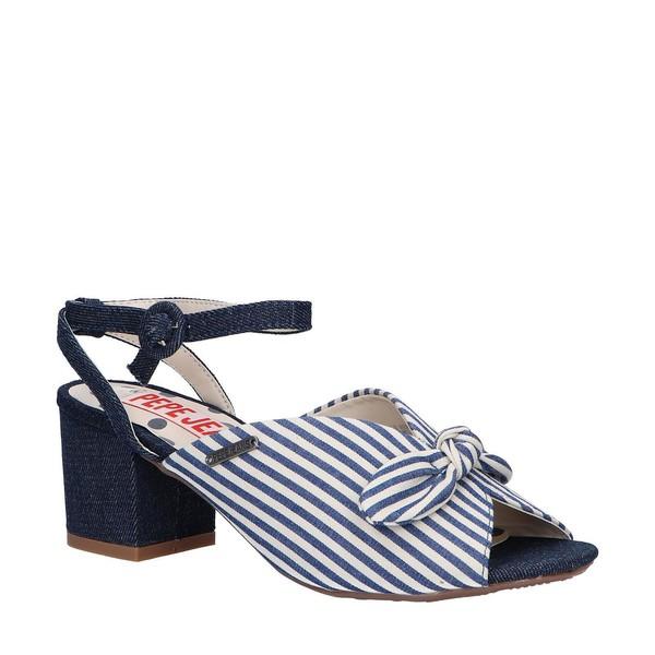 6cm Sandalia tacón mujer - azul