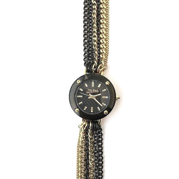 Reloj analógico acero mujer - dorado/negro