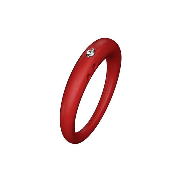 Anillo mujer diseño classic talla L - rojo