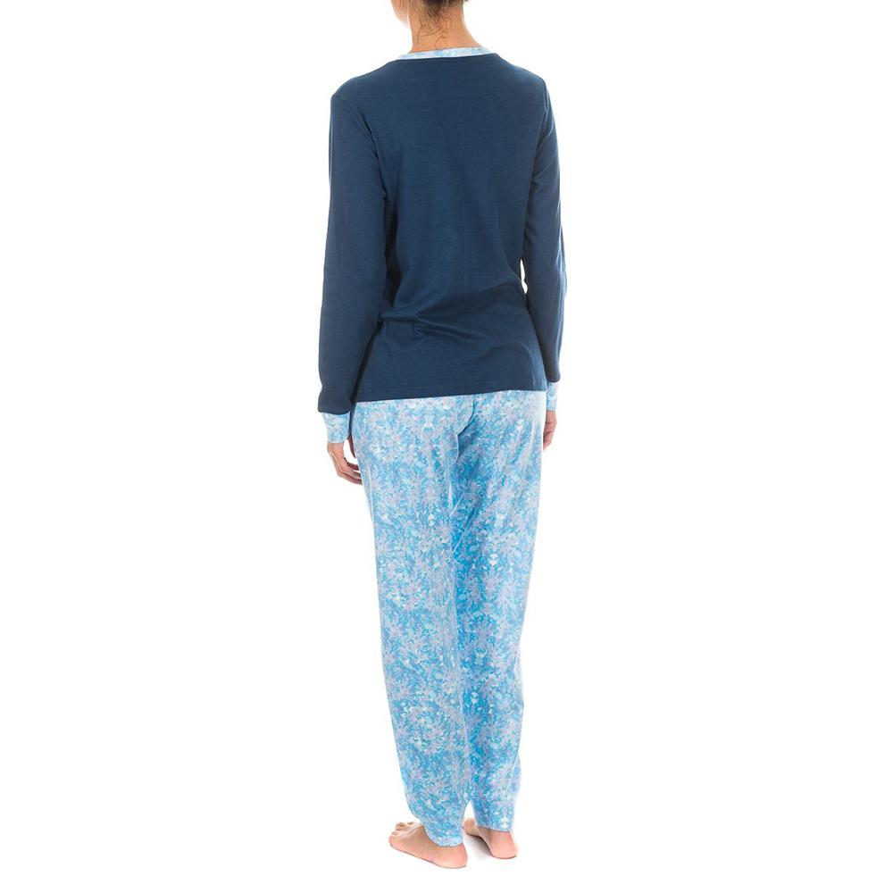 Pijama /larga - marino/azul estampado