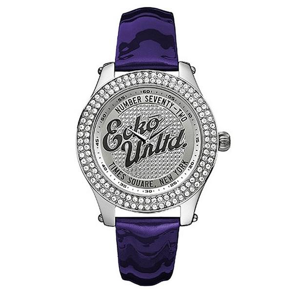 Reloj analógico piel mujer - violeta