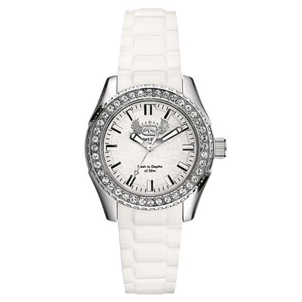 Reloj analógico silicona mujer - blanco