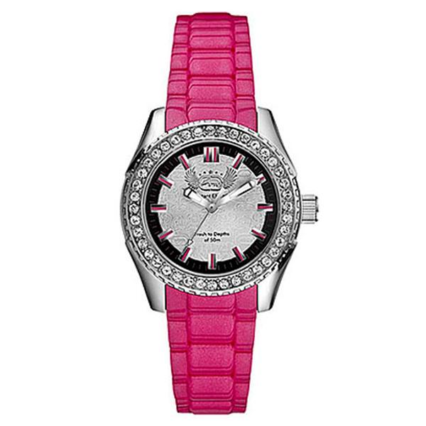 Reloj analógico silicona mujer - fucsia