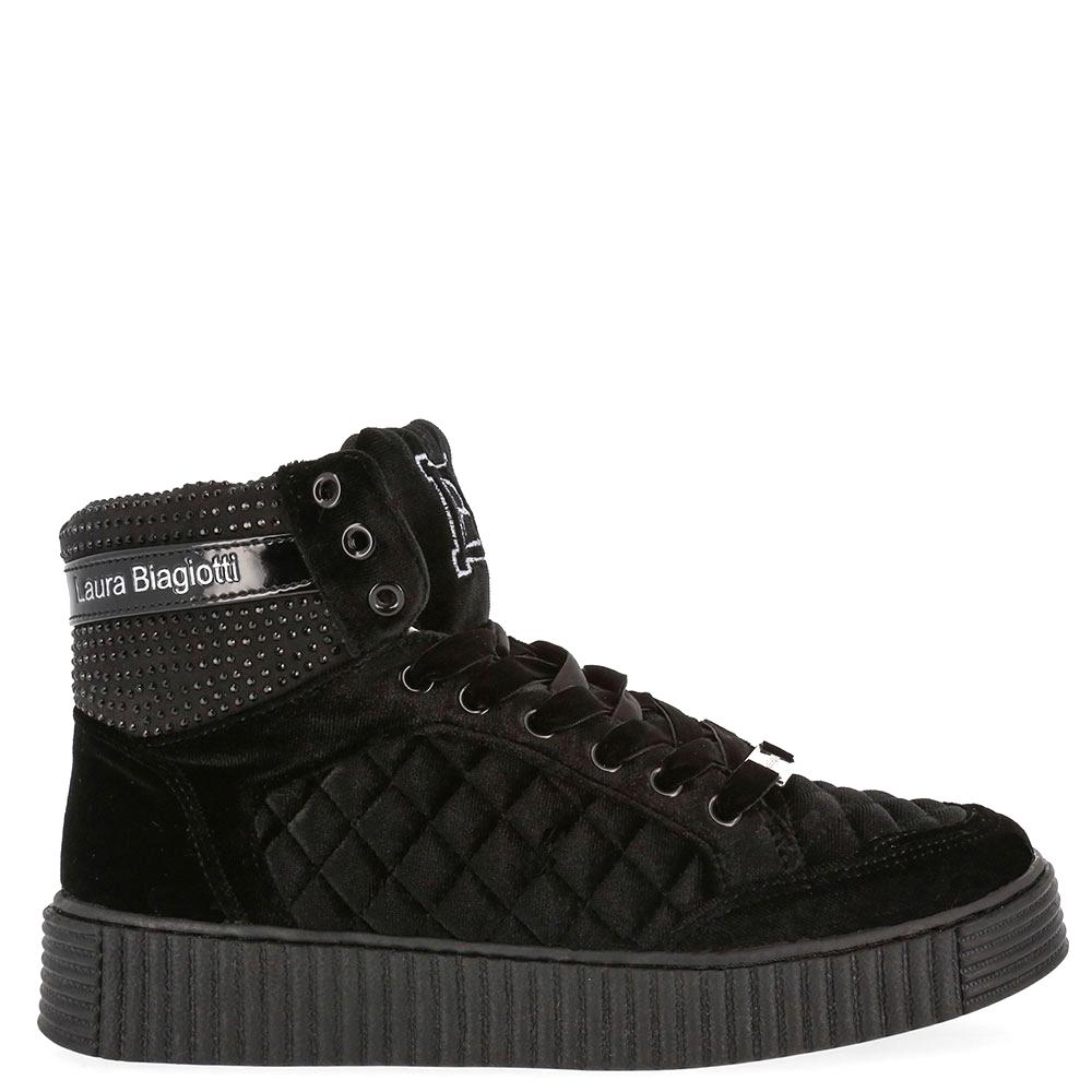 Sneaker plana mujer - negro
