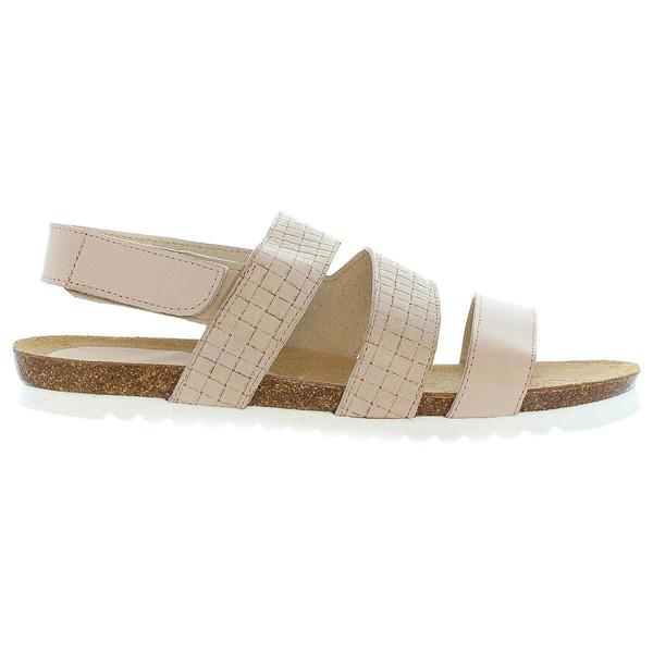 Sandalias planas mujer piel - beige