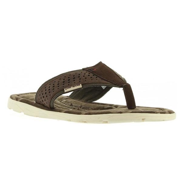 Sandalias flip flop hombre - marrón