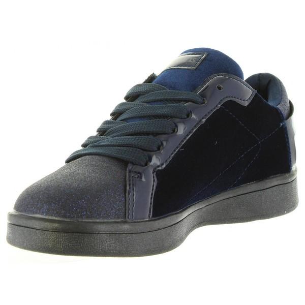 Sneaker piel infantil/junior - marino