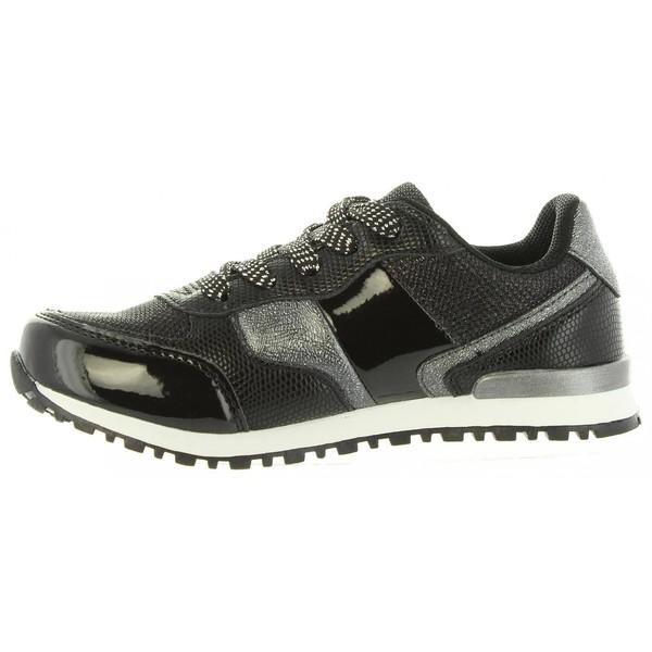 Sneaker piel infantil - negro