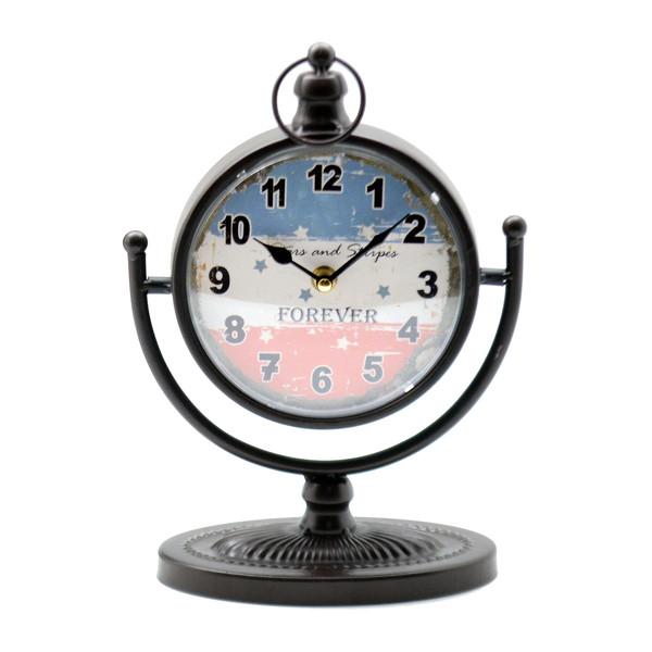 29x12x21cm Reloj sobremesa peana bandera