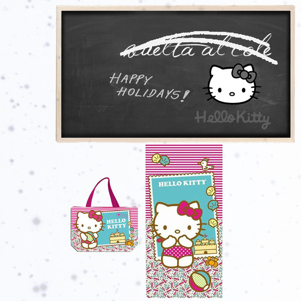 Hello Kitty - Set de playa: Bolsa de playa y Toalla