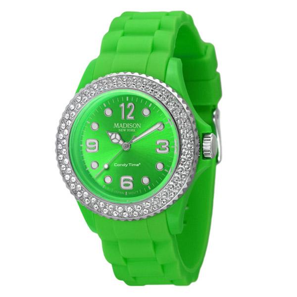 Reloj analógico caucho mujer - verde