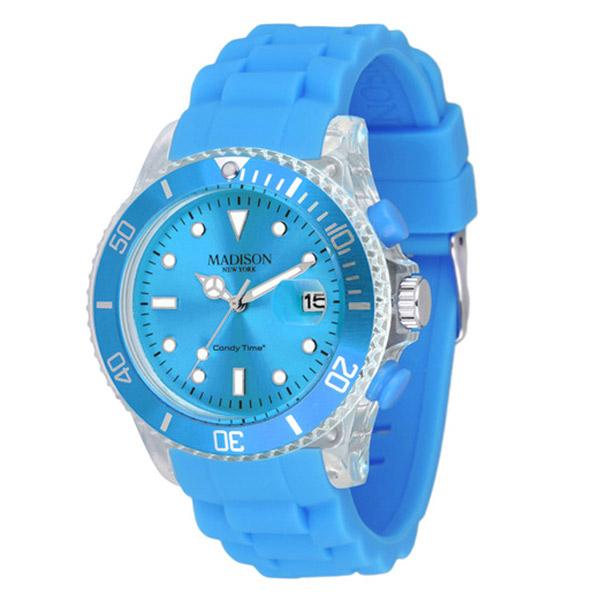 Reloj analógico caucho unisex - azul