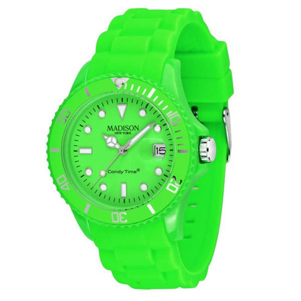Reloj analógico caucho unisex - verde