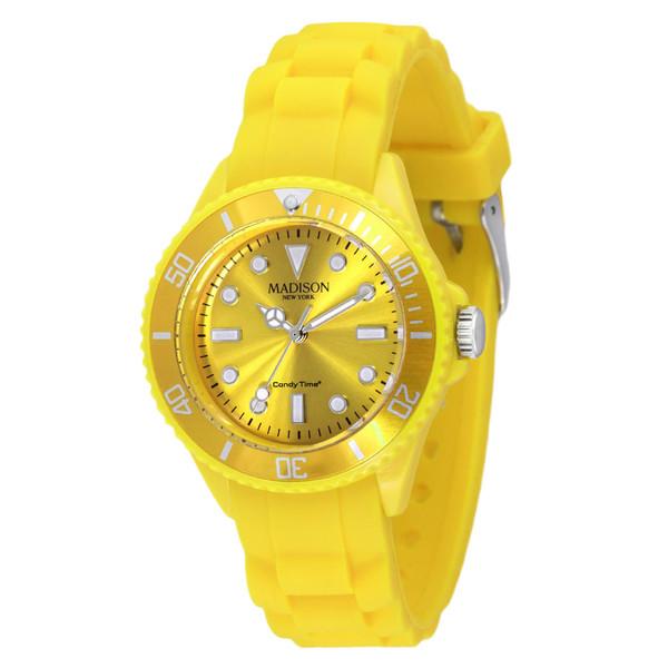 Reloj analógico caucho unisex - amarillo
