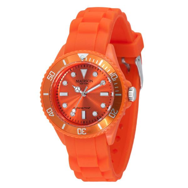Reloj analógico caucho unisex - naranja