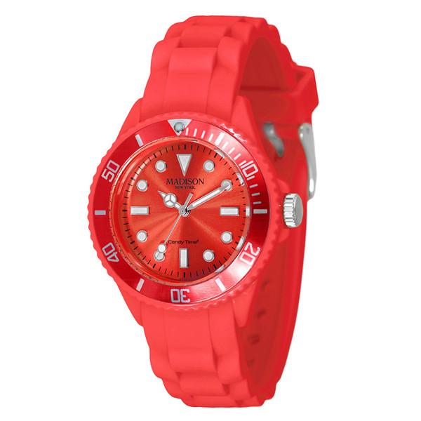 Reloj analógico caucho unisex - rojo