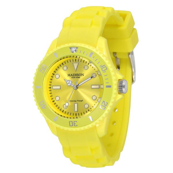 Reloj analógico caucho unisex - amarillo pastel