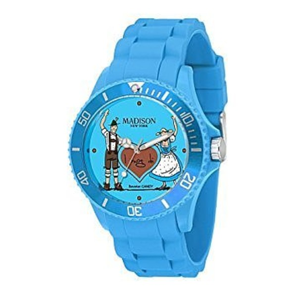 Reloj analógico mujer caucho - azul