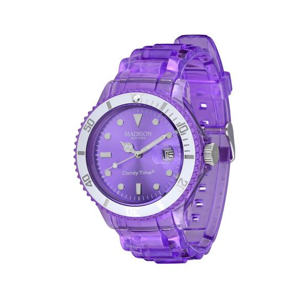 Reloj mujer analógico caucho - lila