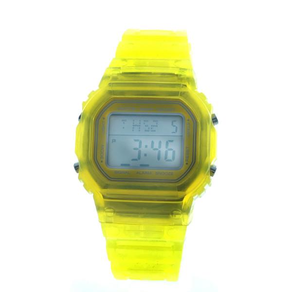 Reloj digital unisex caucho - amarillo