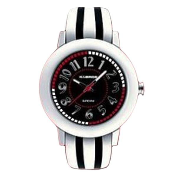 Reloj analógico piel mujer - blanco/negro