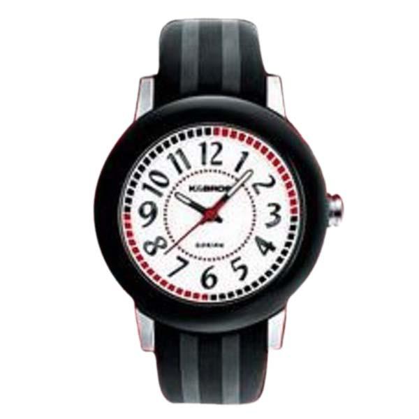 Reloj analógico mujer piel - negro/gris